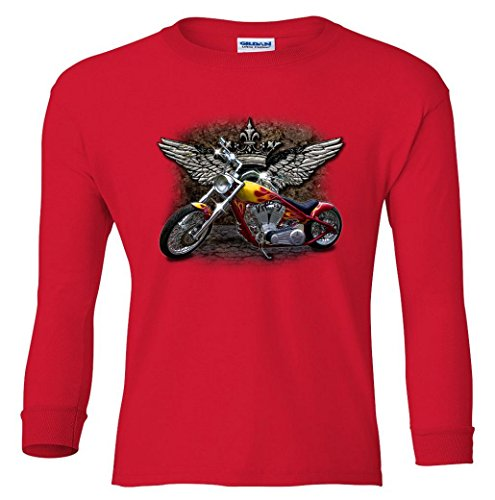 Motorcycle Attitude Biker Youth long sleeve T-Shirt