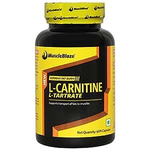 MuscleBlaze L-Carnitine L-Tartrate, 60 capsules Unflavoured