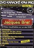 echange, troc DVD Karaoké KPM Pro Vol. 18 ''Jacques Brel''