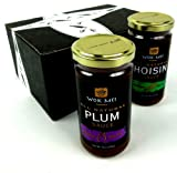 Wok Mei Gluten Free Sauce 2-Flavor Variety: One 8 oz Jar Each of Hoisin Sauce and Plum Sauce in a Gift Box