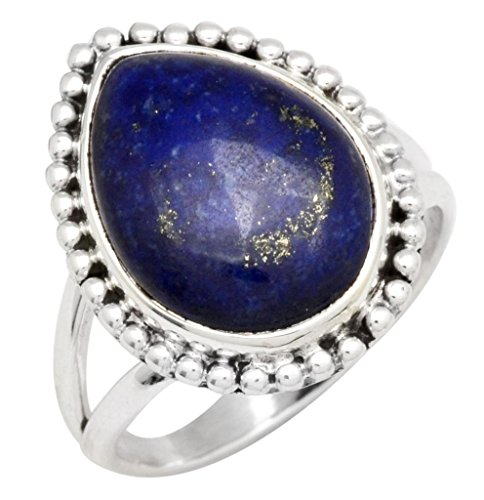 Lapis Gemstone Ring Solid 925 Sterling Silver Jewelry
