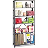"Safco Products 6268 Commercial Shelf Kit 36 x 12"", 6-Shelf, Gray"