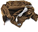 God's Hand 1pcs USB Heated Shawl and Lap Blanket USB Heated Throw for Office Desk Heater Shoulder Warmer (coffee)