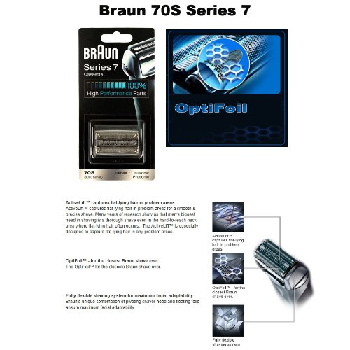 new braun replacement foil cutter cassette 70s series 7. Black Bedroom Furniture Sets. Home Design Ideas