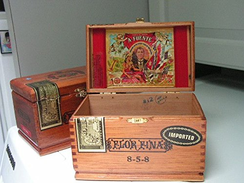Vintage Flor Fina Cigar Box Empty Single 0