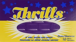 Thrills Chewing Gum, 10 Count - 20 Pack