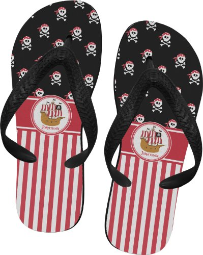 Pirate & Stripes Flip Flops - Medium back-81367