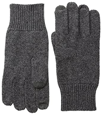 Williams Cashmere Men's Texting Gloves, Chrome, One Size