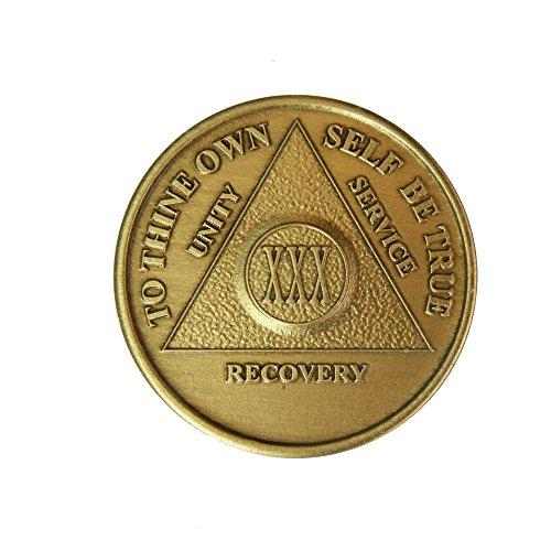 30 Year Bronze AA (Alcoholics Anonymous) - Sober / Sobriety / Birthday / Anniversary / Recovery / Medallion / Coin / Chip by Generic
