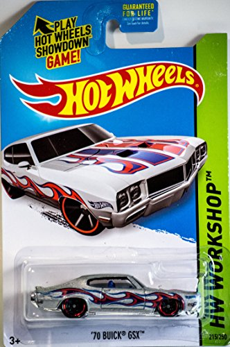 2014 Hot Wheels Hw Workshop '70 Buick GSX - Silver [Ships in a Box!]