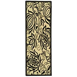 Safavieh Courtyard Collection CY2961-3901 Sand and Black Indoor/ Outdoor Runner, 2 feet 3 inches by 6 feet 7 inches (2\'3\