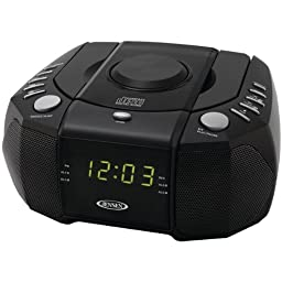 Jensen Dual Alarm Clock Am/Fm Stereo Radio With Top-Loading Cd Player \