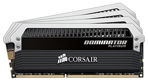 Corsair Dominator Platinum 16GB (4 x 4GB) DDR3 1600MHz C7 Memory Kit CMD16GX3M4A1600C7 (Corsair Dominator Platinum Gold compare prices)