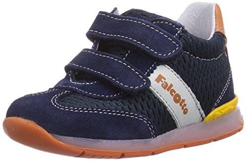 Naturino FALCOTTO ANDY VELCRO, Sneaker per neonati bambino, Blu (Blau (NAVY-OCRA)), 23