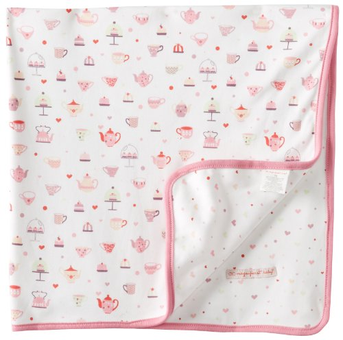 Magnificent Baby Baby-Girls Newborn Tea Hearts Reversible Blanket - 1