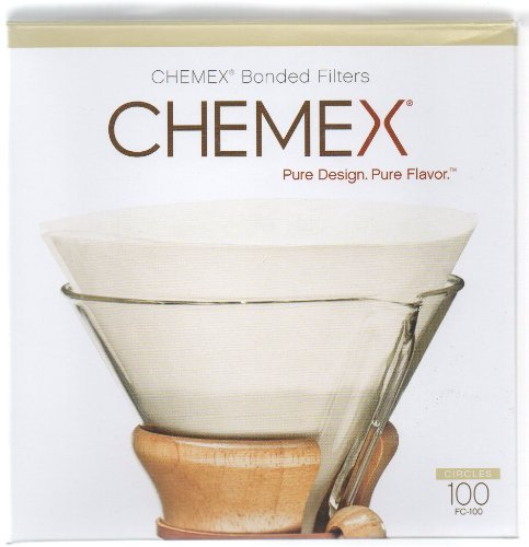 Chemex Pre Folded Circle Coffee Filter (100 Filters) Style: Circle Home & Kitchen front-490418