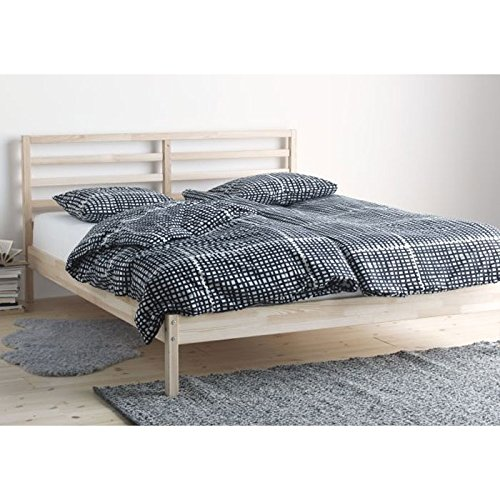Ikea Kleiderschrank Rakke Neu ~ Details Of Ikea Tarva Full Size Bed Frame Solid Pine Wood Brown