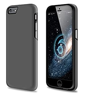 vau iPhone 6 Combo Bumper - grey & black - TPU-Hülle und Hard-Case für Apple iPhone 6