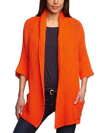 kookai damen strickjacke e1269 gr 36 orange papaye bekleidung. Black Bedroom Furniture Sets. Home Design Ideas