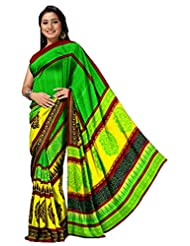 Ethnic Trend Chiffon Saree With Blouse Piece - B00OOVF9TI
