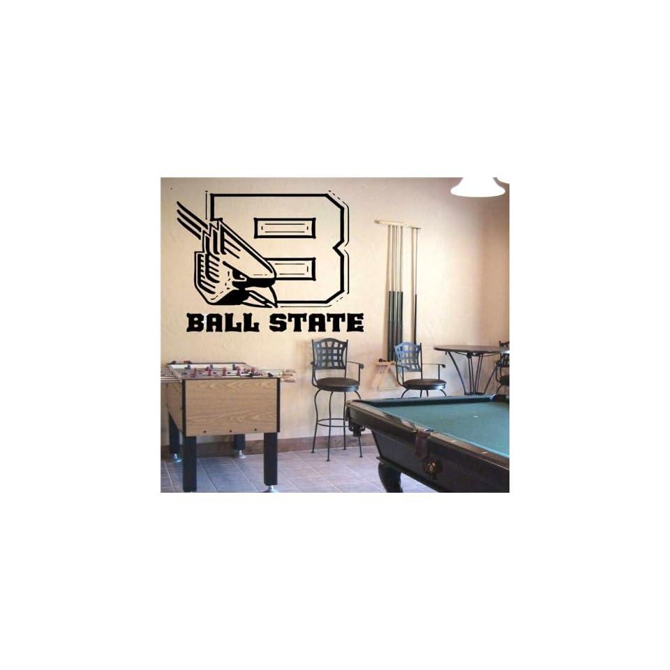Ncaa Wall Mural Vinyl Sticker Sports Logos Ball State Cardinals (S075)