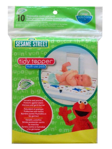 Neat Solutions Sesame Street Multi-Use Pads, 10 Count - 1