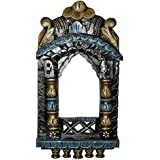 Decorative Hand Painted Work Design Wooden Jharokha Photo Frame 16.5 X 9 X 2 Inches