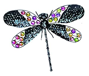 Very Cool Stuff Rainbow Bling Dragonfly Wall Art, 16-Inch