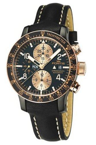 Fortis Men's 665.13.19 L.01 B-42 Statelier Black Dial Watch