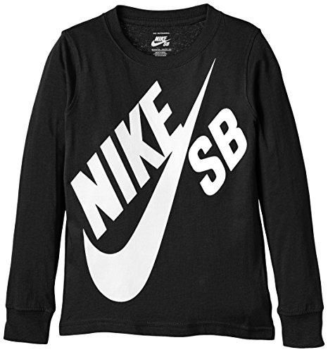nike-sb-t-shirt-garcon-noir-black-fr-5-6-ans-taille-fabricant-5-6y