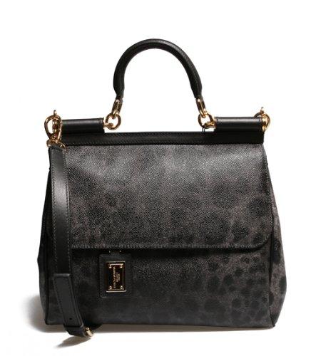 Details for DOLCE & GABBANA Miss Sicily Handbag in Grey Leopard