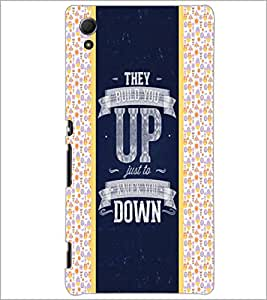 PrintDhaba Quote D-6060 Back Case Cover for SONY XPERIA Z4 (Multi-Coloured)