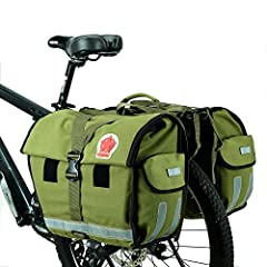 This bicycle rack bag is specialized for long distance riding. After special pulp technology, its water proof performance can be much better than normal fabric.  The Five Point Star logo brings fashion and adventure spirit. Having super large storage...