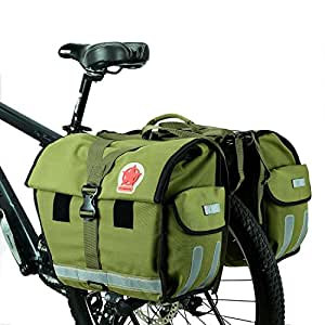 Bicycle Double Pannier Bags Rear Rack