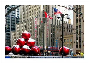 Christmas Ornaments By Radio City, New York - Set of 3 Handmade Christmas Photo Greeting Card