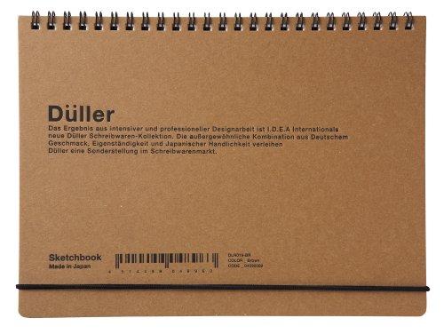 DULLER スケッチブック(小)-ブラウン DLR019-BR 4590080