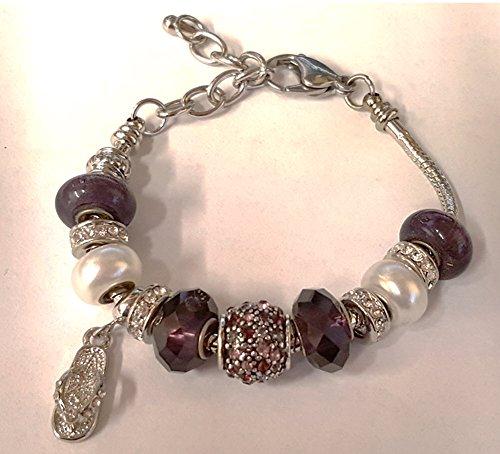 bella-perlina-collection-pandora-style-bracelet-9-snake-chain-interchangeable-beads-purple-flip-flop