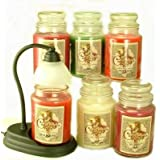 Courtney's 26oz Scented Jar Candle Gift Pack - 6 Candles & FREE CANDLE WARMER - Cinnamon Lover