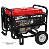 DuroMax XP4000S 7.0 HP Air Cooled OHV Gasoline Powered Portable RV Generator, 4000-watt, Red (Color: Red)