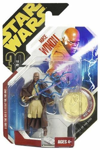 Star Wars Ultimate Galactic Hunt With Gold Coin Moc - Mace Windu - 1