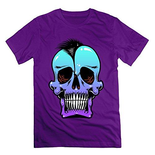 Men's SKULL PUNKS Short-Sleeve T-shirt Purple (Skin And Bones Set)