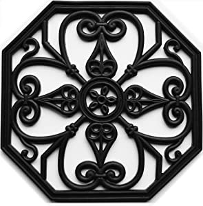 """100% Rubber Stepping Stones/Trivets 16""""x16"""" Octagon Set of 3"""