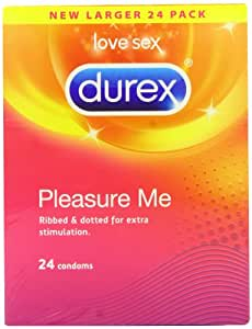 Durex Pleasure Me Ribbed and Dotted Condoms (Pack of 24)
