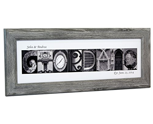 Personalized Name in Black and White Architecture From Original Alphabet Photograph Letters for Personalized Gift,