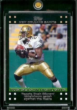 2007 Topps Football # 432 Reggie Bush 88 Card Touchdown Catch Against Bears - New Orleans Saints - POSTSEASON HIGHLIGHTS - NFL Trading Cards
