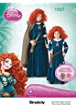 Simplicity Creative Patterns 1557 Disney Brave Costumes for Children and Girls, HH (3-4-5-6)