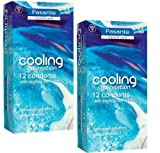 Pasante® Cool Flavour Condoms x24 - Ribbed with Cooling Sensation