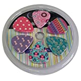 Girly Guitar Picks Set - Medium Size Celluloid 12-pack - Unique Colorful Designs - Best Gifts for Girls Kids Teens Daughter Granddaughter Niece Women - Great Thanksgiving Christmas New Year Holidays Presents