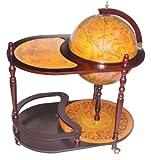 Merske MK42004R Arezzo Italian Style 17.5 Inch Diameter Floor Globe Bar Trolley