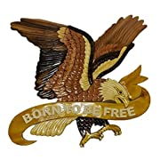 Intarsia Wooden Wall Plaque - Eagle